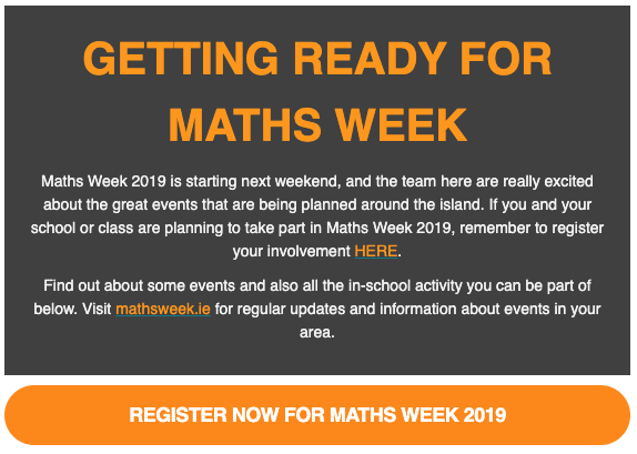 Ready for Maths Week